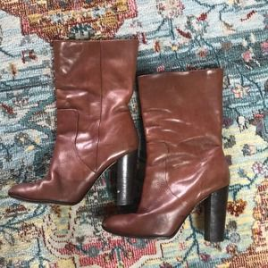 Michael Kors   Brown Leather Booties Size 7.5